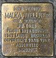 Stolperstein Augsburger Str 29 (Charl) Malka Wellner.jpg