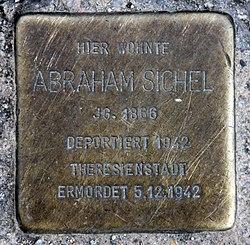 Photo of Abraham Sichel brass plaque