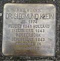 Stolperstein Köln Blumenthalstraße 23 Dr Siegmund Klein.jpg