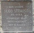 Stolperstein Lüdinghausen Olfener Straße 10 Hugo Strauss.jpg