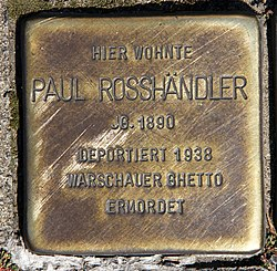 Photo of Paul Pinkus Rosshändler brass plaque