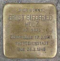 Photo of Ernst Siegfried Holz brass plaque