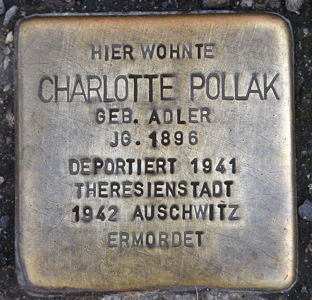 Stolperstein für Charlotte Pollak.JPG