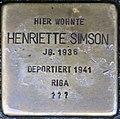 Stolpersteine Höxter, Henriette Simson (Westerbachstraße 12).jpg