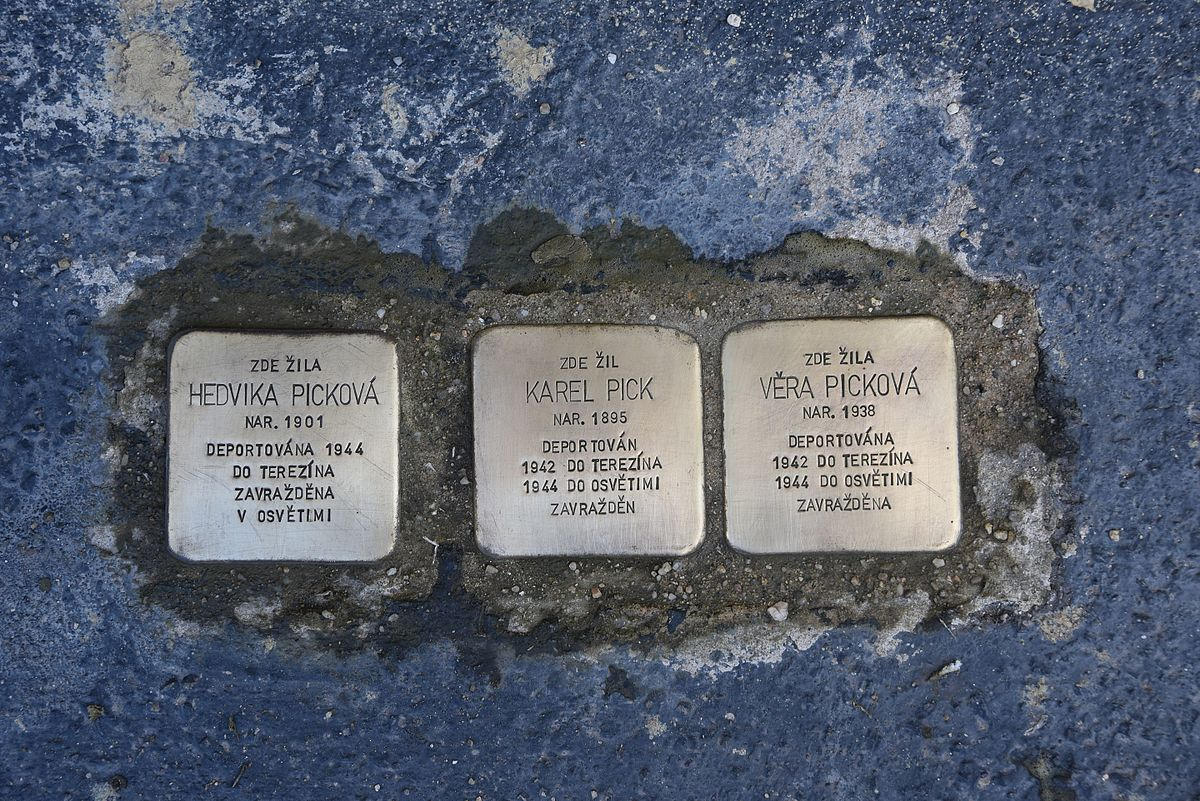 Stolpersteine In Prague Nusle