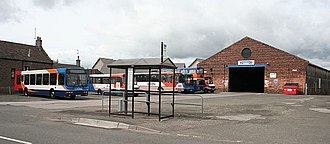 Stagecoach Strathtay - Stagecoach Strathtay vehicles at Forfar outstation in May 2007