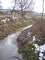 Stream to flowing to the Newmill Channel - geograph.org.uk - 1711395.jpg