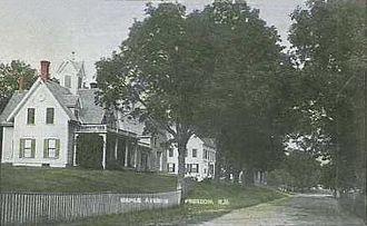Freedom, New Hampshire - Street Scene c. 1910