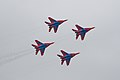 Strizhi (The Swifts) Aerobatics Team at MAKS-2009.jpg