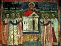Sts. Theodore Tyron & Theodore Stratelates in Dobarsko Fresco of the Builders and Ktetors 2.jpg