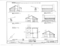 Sugar Furnace - Elevations, Floor Plan and Section - Dudley Farm, Farmhouse and Outbuildings, 18730 West Newberry Road, Newberry, Alachua County, FL HABS FL-565 (sheet 21 of 22).png