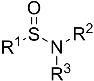 Sulfinamide - The general chemical structure of a sulfinamide