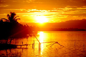 Aroor - A beautiful sunrise from Aroor bridge