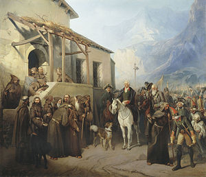Adolf Charlemagne - Field Marshal Suvorov in Gotthard Pass.