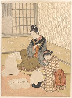 series of ukiyo-e prints designed by the Japanese artist Suzuki Harunobu