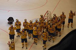 Swedish players at the 2013 IIHF World Championship Final.JPG