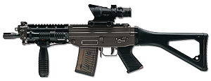 Equipment of the Malaysian Armed Forces - Image: Swiss Arms SG 553 Left