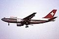 Swissair AG Airbus A310-221 (HB-IPE 221) (10817017366).jpg