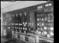 Switchboard at the electric substation at Halfway Bush, Dunedin, 1926. ATLIB 295733.png