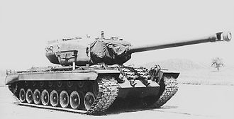 155 mm gun T7 - The T7 as mounted on the T30 heavy tank