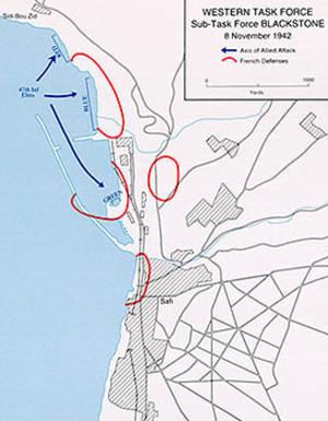 Operation Blackstone - Safi Landing Site and Battle Locations