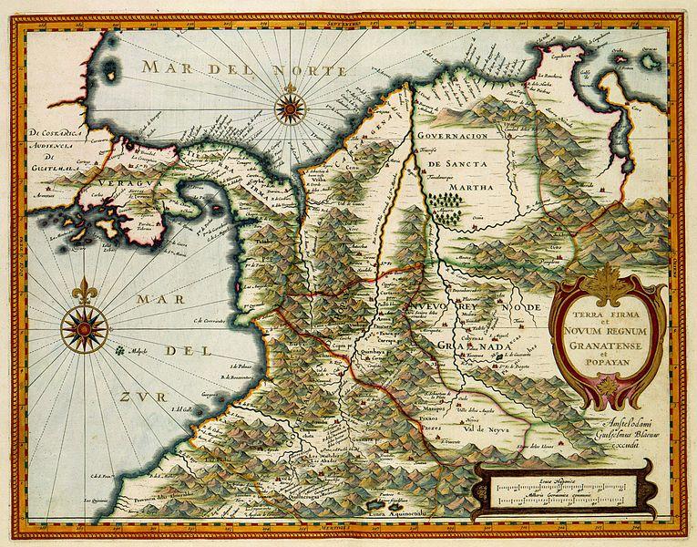 Portal Terra Nl : File:terra firma et novum regnum granatense et popayan.jpg