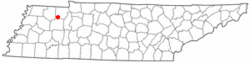 Location of Henry, Tennessee