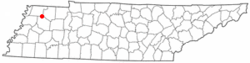 Location of Kenton, Tennessee