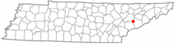 Location of Seymour, Tennessee