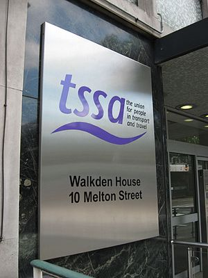 Transport Salaried Staffs' Association - TSSA's headquarters in London