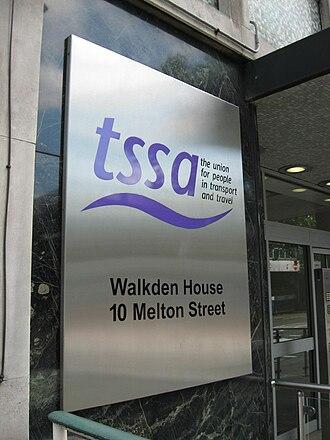 Transport Salaried Staffs' Association - TSSA's headquarters in London