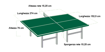 Italiano: specifiche tavolo ping pong
