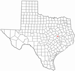 Location of Franklin, Texas