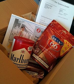 Bias - Box offered by the tobacco lobbyists to Kartika Liotard in September 2013