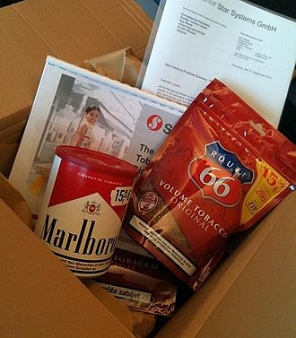 Bias - Box offered by tobacco lobbyists to Dutch Member of the European Parliament Kartika Liotard in September 2013