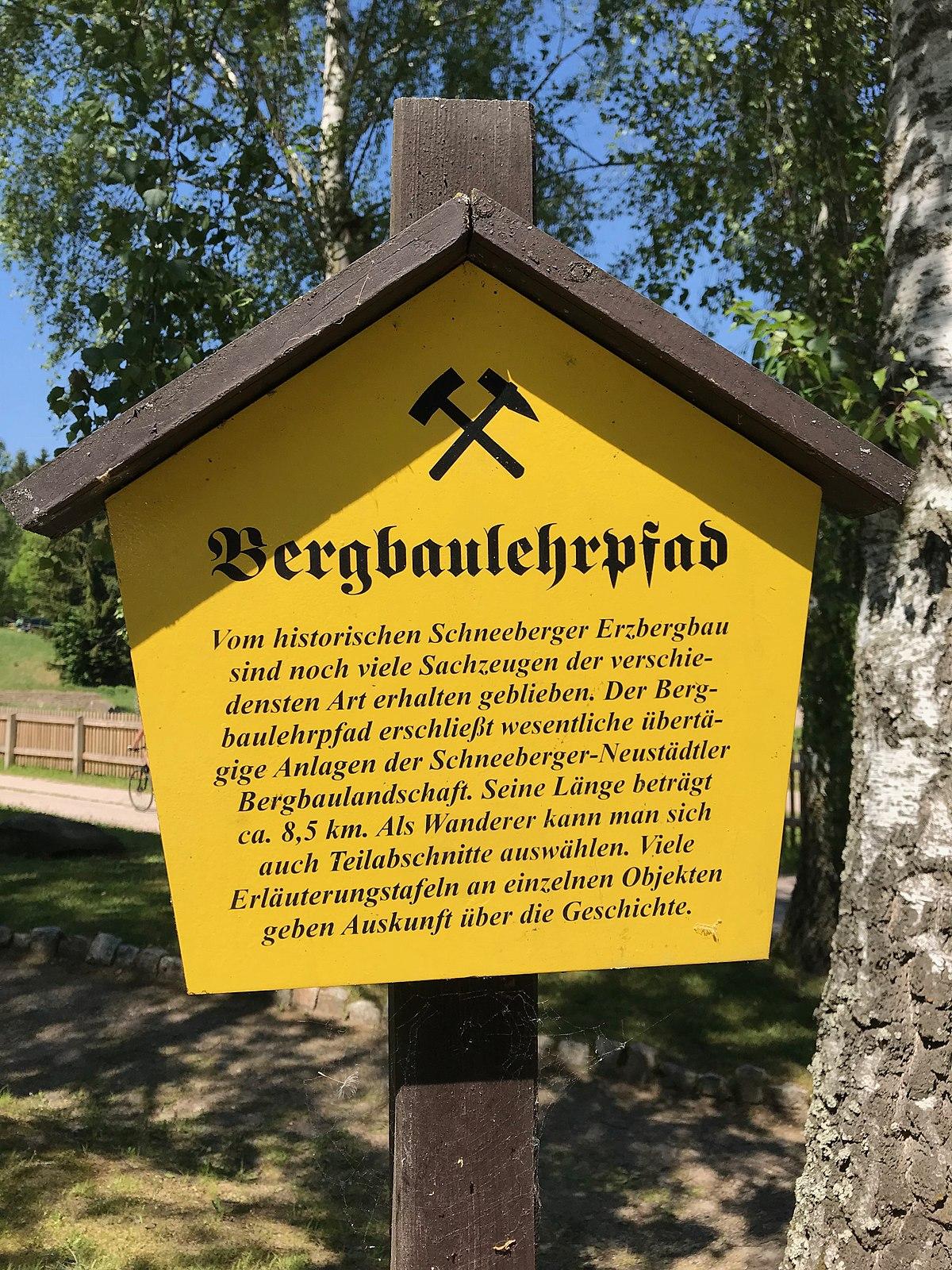 Bergbaulehrpfad schneeberg neust dtel wikipedia for Gelbe tafeln