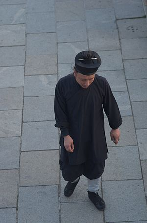 Taoist schools - A monk of the Quanzhen school of Mount Tai, in Shandong.