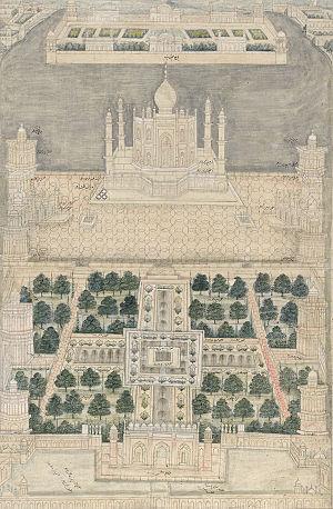 Islamic garden - Image: Taj Mahal art