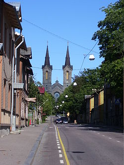 Charles's Church (Kaarli kirik) seen from Luise street