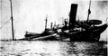 Tanker Herbert L. Pratt lay partially submerged off Lewes June 3 1918 cropped.png
