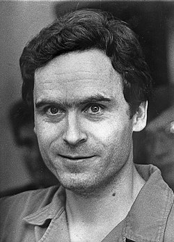 English: Ted Bundy in custody, Florida, July 1...