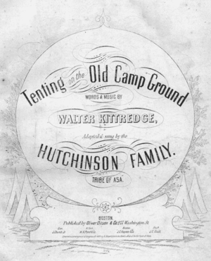 Tenting on the Old Camp Ground - Cover, sheet music, 1864