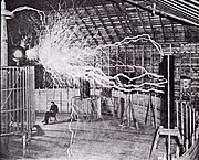 Il laboratorio di Tesla a Colorado Springs, 1900 circa