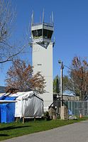 Teterboro Airport's control tower in 2012.