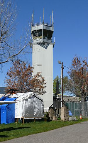 Teterboro, New Jersey - Teterboro Airport's control tower in 2012.