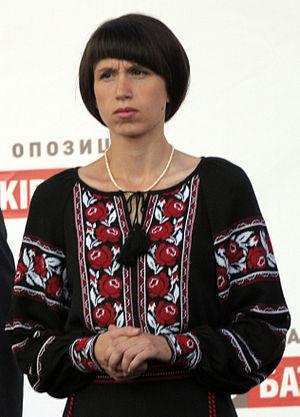 Tetiana Chornovol - Chornovol at an opposition rally in September 2012