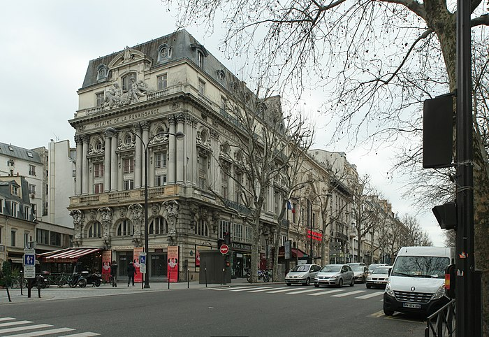 Th tre de la porte saint martin monument historique paris 10e arrondissement myopenweek - Plan salle theatre porte saint martin ...