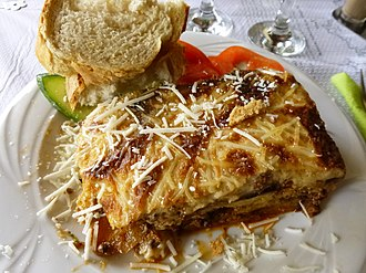 Moussaka - A typical dish of Greek Moussaka