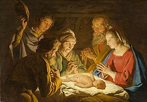 Adoration of the Shepherds - Adoration of the Shepherds by Matthias Stom, c. 1635–40.