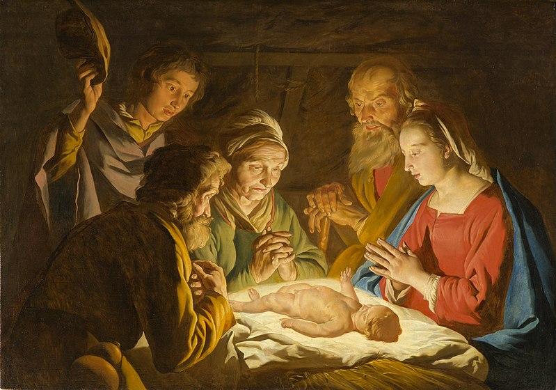 File:The Adoration of the Shepherds - Matthias Stom (Stomer) - Google Cultural Institute.jpg; Art Advent Calendar